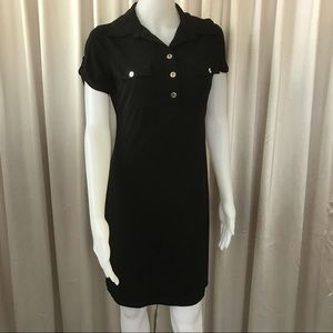 CAROLE LITTLE Short Casual Dress SIZE 8 Black